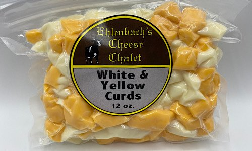 Cheddar Cheese Curds - 12 oz. White and Yellow